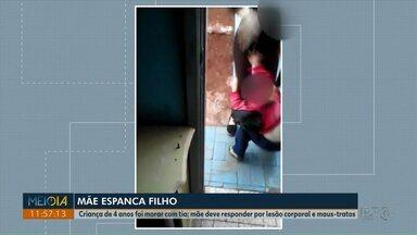 Polícia Civil investiga mãe que aparece em vídeo agredindo filho - Polícia diz que mulher, de 26 anos, agride o menino desde quando ele era bebê.