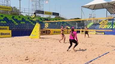 Brasília recebe o Super Praia, com as melhores duplas de vôlei de praia do circuito nacional - Brasília recebe o Super Praia, com as melhores duplas de vôlei de praia do circuito nacional