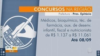 Prefeitura de Epitácio e Polícia Militar têm concursos públicos com inscrições abertas - Confira as oportunidades disponíveis no Oeste Paulista.