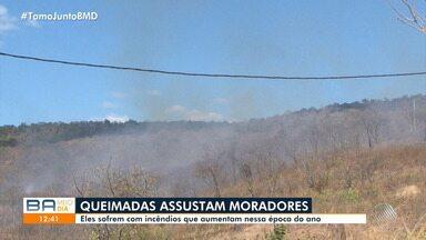 Queimadas: Tempo seco aumenta o número de incêndio, em Barreiras, no oeste do estado - População sofre com a fumaça, que pode causar vários problemas de saúde.