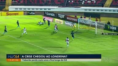 Londrina perde mais uma partida e se distancia do G4 - A derrota do Tubarão foi para o Botafogo de Ribeirão Preto.