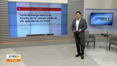 Tarifa de energia elétrica terá redução na Paraíba - A redução será de 4% em média, após decisão da Aneel.