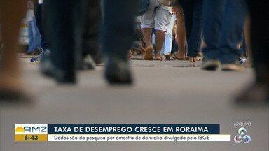 Aumenta o número de desempregados em Roraima - Dados foram revelados pelo IBGE.