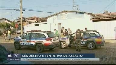 Suspeitos rendem gerente e mãe em tentativa de assalto a agência de São Pedro da União, MG - Suspeitos rendem gerente e mãe em tentativa de assalto a agência de São Pedro da União, MG