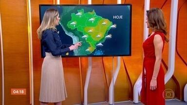 Meteorologia prevê que frio deve continuar no Sudeste nesta sexta-feira - Previsão é de chuva em parte de Santa Catarina e do Paraná.