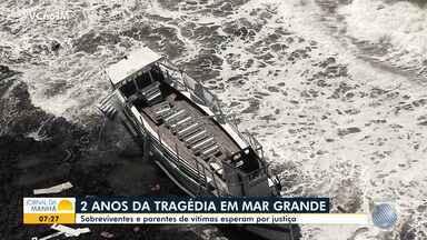 Tragédia de Mar Grande: dois anos após embarcação naufragar, vítimas ainda pedem justiça - Conheça a história de uma mulher que cometeu o suicídio por não ter conseguido superar o trauma.