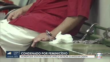 Justiça condena homem que jogou mulher da janela na Asa Sul - Jonas Zandoná foi condenado a 25 anos de prisão. O crime foi em agosto. Carla Graziele, mulher de Jonas, foi jogada do 3º andar de um prédio na 415 sul.