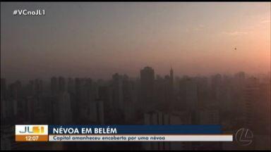 Cidade coberta por nevoeiro chama atenção da população nesta sexta-feira, 23 - O fenômeno chamou atenção logo nas primeiras horas do dia.