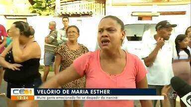Muita gente emocionada no velório da menina Maria Esther - Saiba mais em g1.com.br/ce