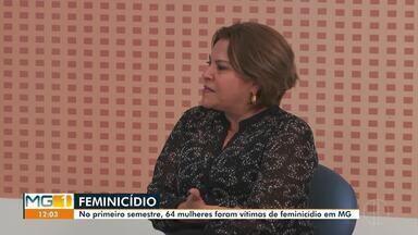 Dia estadual de combate ao feminicídio é comemorado em Montes Claros - No primeiro semestre deste ano, 64 mulheres foram vítimas de feminicídio em Minas. Defensora pública fala da importância de denunciar a violência contra a mulher.