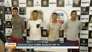 Quadrilha é presa após perseguição policial, em Manaus - Cinco suspeitos iriam cometer assalto em uma unidade do Sinetram.