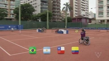 Etapa do circuito mundial tênis em cadeira de rodas é realizada em Santos até domingo - O Tênis Clube de Santos é o palco da competição.