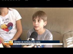 Centro de Integração Azul ajuda famílias com filhos autistas em Ipatinga - Miguel tem 7 anos e foi diagnosticado com autismo no início de 2019. A mãe do menino encontrou apoio no Centro de Integração Azul.