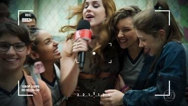 Sophia começa as gravações na escola de Nanda e Raíssa - A apresentadora se assusta com o coro das amigas de Nanda contra Raíssa e para as gravações. Nanda descobre que Camelo vai participar do clipe da rival