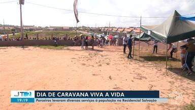 Parceiros do Projeto 'Viva a Vida' levaram diversos serviços à população no res. Salvação - Caravana encerrou a sexta etapa do projeto em Santarém.