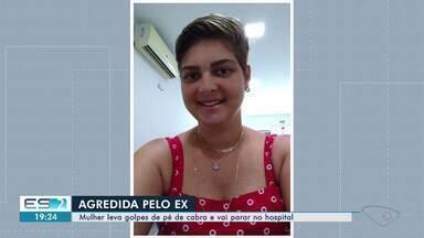 Mulher vai parar no hospital após ser espancada com pé de cabra no ES; ex é suspeito - As agressões aconteceram por volta das 13h30, quando a vítima Andressa Ramos Dalto foi para casa almoçar. Segundo a mãe Iris Rosália Ramos, ela foi surpreendida pelo ex.