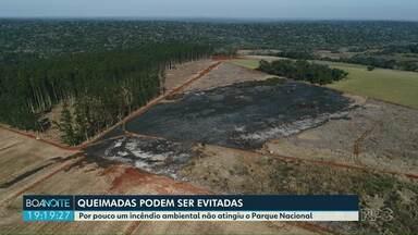 Por pouco um incêndio ambiental não atingiu o Parque Nacional em Foz do Iguaçu - Número de queimadas aumentou em Foz em comparação com o ano passado.