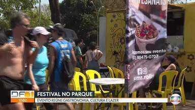 Festival no Parque da Cidade reúne gastronomia, música e lazer - O evento, que acontece no estacionamento 10 do parque, é gratuito e termina no domingo.