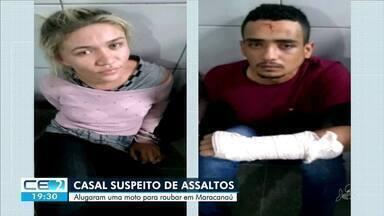 Casal é preso suspeito de assaltos em Maracanaú - Saiba mais em g1.com.br/ce