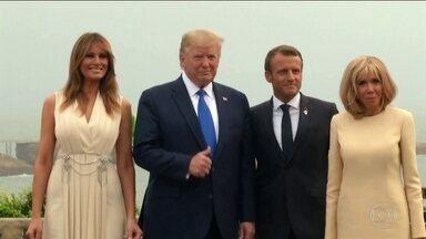 Combate às queimadas é consenso entre líderes no encontro do G7 - Mas nem todos concordam que a crise gerada pelo assunto seja suficiente para que acordo entre Mercosul e União Europeia não saia do papel.
