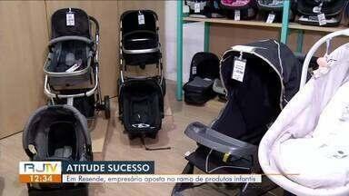 Atitude de sucesso: empresário aposta no ramo de produtos infantis - Dois bilhões de reais são movimentados por ano no segmento.