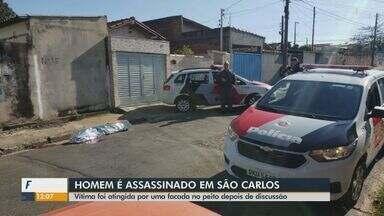 Homem é assassinado a facadas em São Carlos - Vítima foi atingida no peito depois de discussão.
