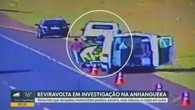 Polícia descobre suspeito que atropelou motociclista no fim de julho, em Cravinhos - Motorista que atropelou a vítima prestou socorro, mas colocou a culpa em outro. Ele foi indiciado por homicídio culposo e pode responder por outros crimes.