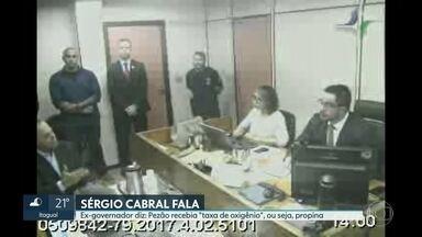 """Pezão recebia """"taxa de oxigênio"""", diz Sérgio Cabral - Ex-governador falou mais uma vez ao juiz federal Marcelo Brêtas."""