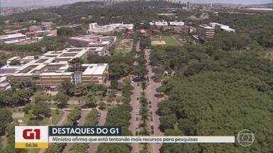 G1 no BDMG: Só há recursos para bolsas de pesquisa do CNPq até agosto, diz ministro - Ministro da Ciência e Tecnologia, Marcos Pontes, afirmou que está tentando conseguir recursos.