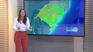 Pancadas de chuva podem atingir Fronteira Oeste do RS nesta quinta (29) - Assista ao vídeo.