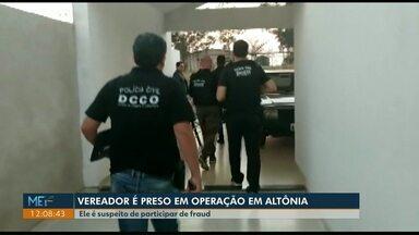 Vereador de Altônia é preso suspeito de participar de fraudes - Na terça-feira, 27/08, dois advogados foram presos suspeitos de participar de fraudes contra a Copel, Sanepar e Tim.