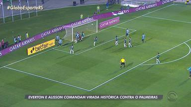 Em vitória inédita no Pacaembu, Grêmio conquista classificação na Libertadores - Everton e Alisson comandam virada contra o Palmeiras.