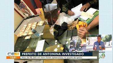 Mais de 260 mil reais foram apreendidos na casa do prefeito de Antonina do Norte - Saiba mais em g1.com.br/ce