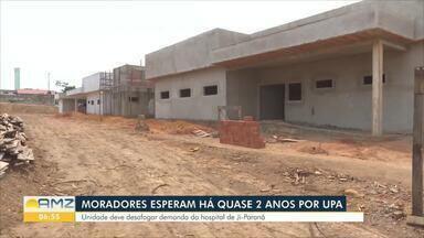 Unidade de Pronto Atendimento tem atraso nas obras em Ji-Paraná - Previsão é que ela seja concluída ainda este ano