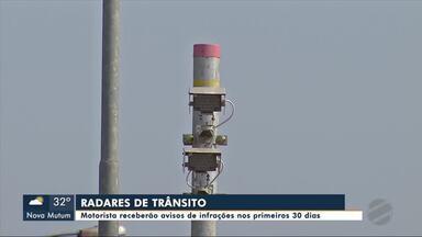 Radares começam a aplicar multas pedagógicas em Sinop - Radares começam a aplicar multas pedagógicas em Sinop
