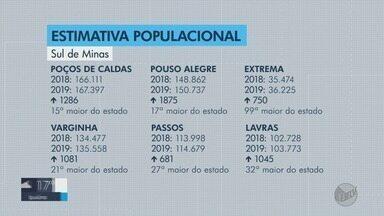 Sul de Minas 'ganha' 15 mil novos moradores em estimativa populacional do IBGE - Sul de Minas 'ganha' 15 mil novos moradores em estimativa populacional do IBGE