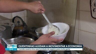 Quentinhas ajudam a movimentar economia - No centro, aluguel de micro-ondas para esquentar marmita virou negócio