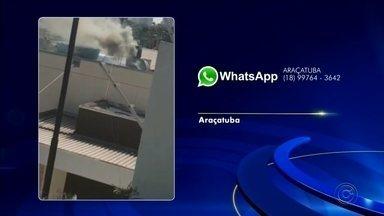 Exaustor de restaurante pega fogo em Araçatuba - O exaustor de um restaurante pegou fogo na tarde desta quarta-feira (28), em Araçatuba (SP).