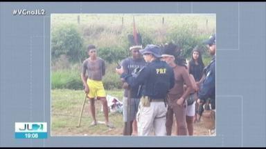 Indígenas Xipaia protesto por mais de 9 horas na BR-230 no Pará - A rodovia dá acesso à usina Belo Monte em Vitória do Xingu.