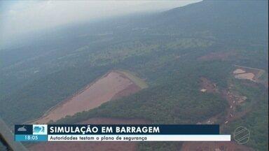 Autoridades testam plano de segurança em barragens de MS - Hoje, a Defesa Civil e outros órgãos de Segurança Pública fizeram uma simulação de acidente na barragem de rejeitos da mineradora Vetorial, em Corumbá.