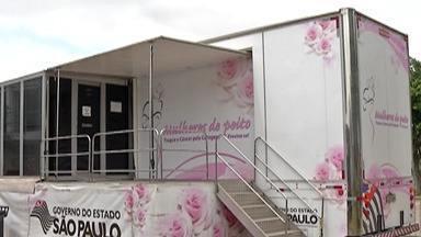 Carreta da Mamografia realiza exames em mulheres de Poá - Serviço atende a 50 mulheres por dia.