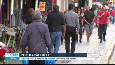Cachoeiro é a cidade do interior do ES com mais habitantes - Espírito Santo tem mais de quatro milhões de habitantes.
