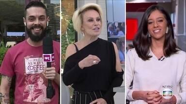 Cauê Fabiano é o novo repórter do 'Mais Você' - Ana Maria Braga dá boas vindas para o jornalista!