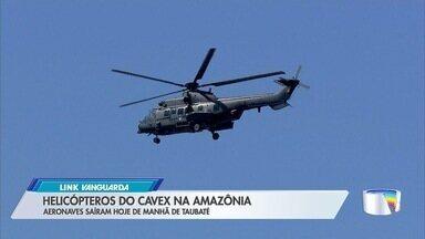 Aeronaves militares decolam de Taubaté para missão contra queimadas na Amazônia - Dois helicópteros partiram do CAvEx na manhã desta quinta-feira (29), com 16 militares a bordo.