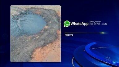 Confira as reclamações enviadas pelos telespectadores ao WhatsApp da TV TEM - Confira as reclamações enviadas pelos telespectadores ao WhatsApp da TV TEM