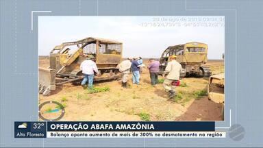 Balanço aponta aumento de mais de 300% no desmatamento na região - Balanço aponta aumento de mais de 300% no desmatamento na região