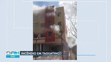 Incêndio atinge apartamento de Taguatinga - O fogo destruiu um quarto e danificou vários cômodos do primeiro andar. Quatro pessoas foram atendidas pelos bombeiros.