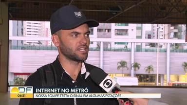 Rede de wifi GDF livre não funciona mais nas estações - Metrô respondeu que faz estudo para colocar internet novamente.