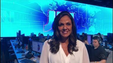 Cristina Ranzolin convida gaúchos para assistir o Jornal Nacional - Assista ao vídeo.