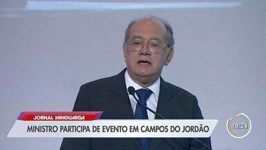Ministro Gilmar Mendes esteve em Campos do Jordão - Ele participou de um evento promovido por advogados.